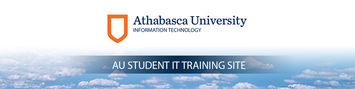AU Student IT Training Site Banner Image